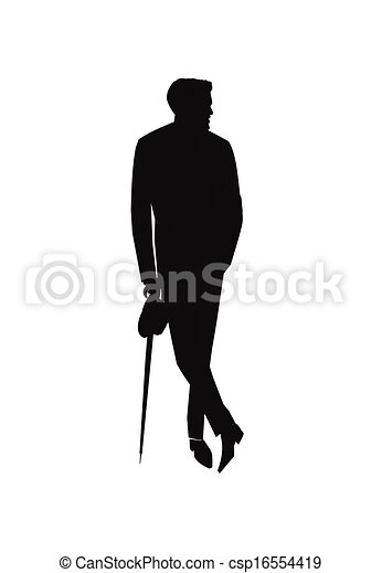stylish man with umbrella silhouette of man in suit holding umbrella