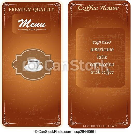 stylish menu template - csp29440661
