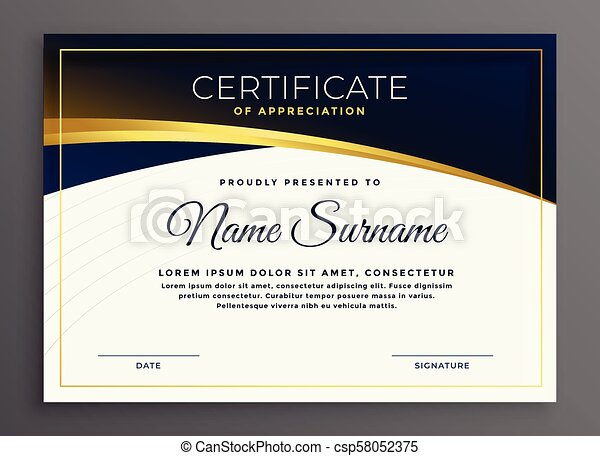 Stylish modern diploma certificate design.