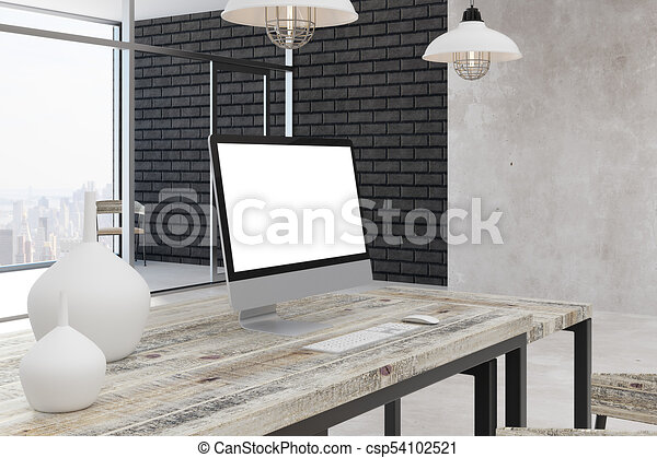 Stylish Office With City View   Csp54102521