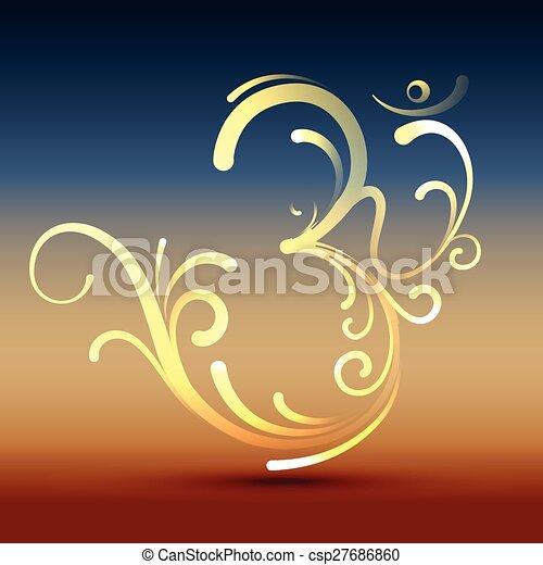 stylish om symbol - csp27686860