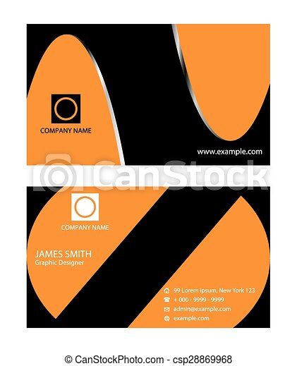stylish orange business card template clip art vector search rh canstockphoto co uk visiting card clipart business card clipart images