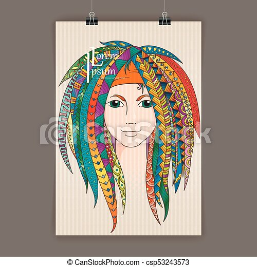 Stylish presentation of wall poster, magazine cover, design paper print  template  Folder zentangle design content background or backdrop