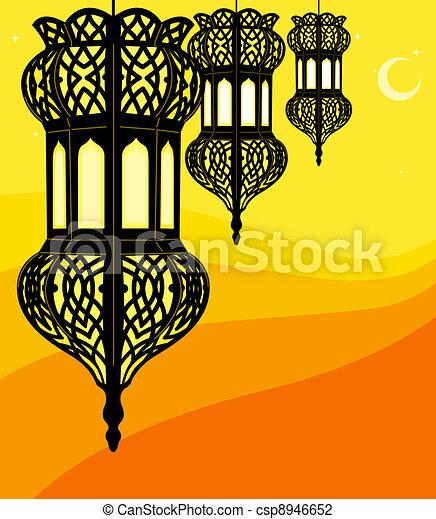 stylish ramadan lantern - csp8946652