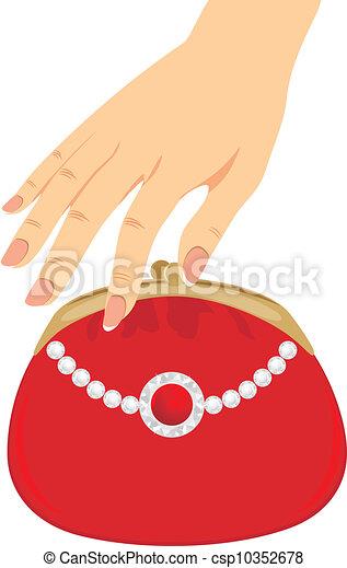 Stylish red female purse - csp10352678