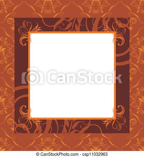 Stylish retro brown frame - csp11032963