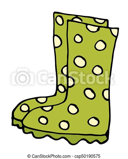 Stylish rubber boots icon in cartoon style isolated on white background illustration - csp50190575