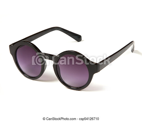 stylish sunglasses with round purple glasses - csp54126710