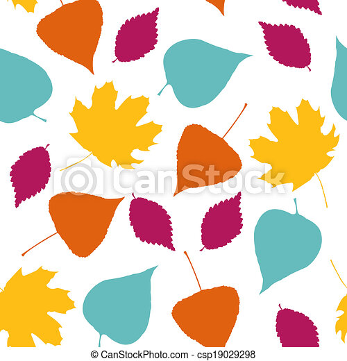 Stylish template with tree leaves - csp19029298