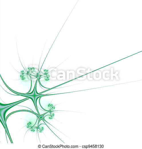 stylish tendrils of plants and summer greenery on a white background - csp9458130