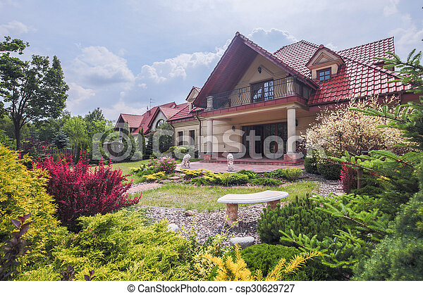 Stylish villa with terrace - csp30629727