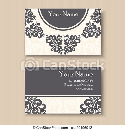 Stylish Vintage Business Card Template Vector Clip Art Search - Vintage business card template