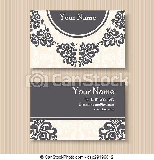 Stylish vintage business card template vector clip art search stylish vintage business card csp29196012 colourmoves