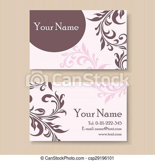 Stylish vintage business card template stylish vintage business card csp29196101 colourmoves