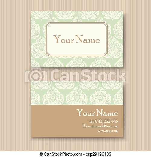 Stylish vintage business card template vector clipart search stylish vintage business card csp29196103 wajeb Gallery