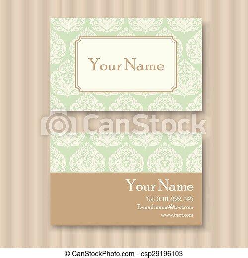 Stylish vintage business card template stylish vintage business card csp29196103 cheaphphosting Image collections