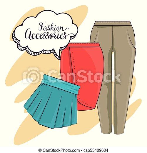 stylish woman fashion clothes vector illustration graphic design