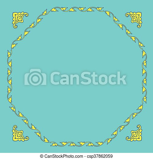 Stylization template for Greeting Card. - csp37862059