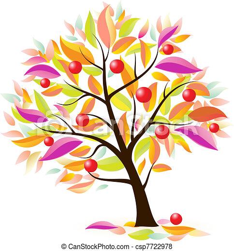 Stylized apple tree - csp7722978