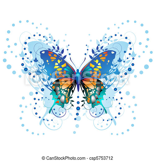 Stylized butterfly - csp5753712