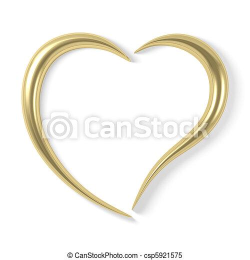 stylized gold heart - csp5921575