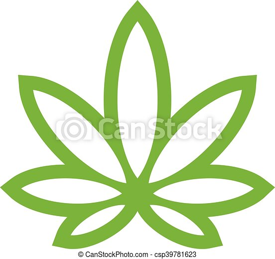 Stylized Green Marijuana Pot Weed - csp39781623