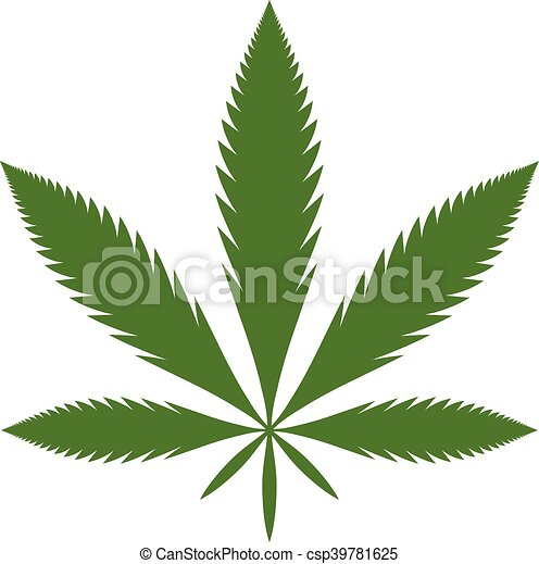 stylized green marijuana pot weed leaf vector logo vector rh canstockphoto com weed leaf vector png weed leaf vector art