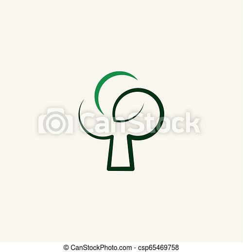 stylized green tree vector icon illustration - csp65469758