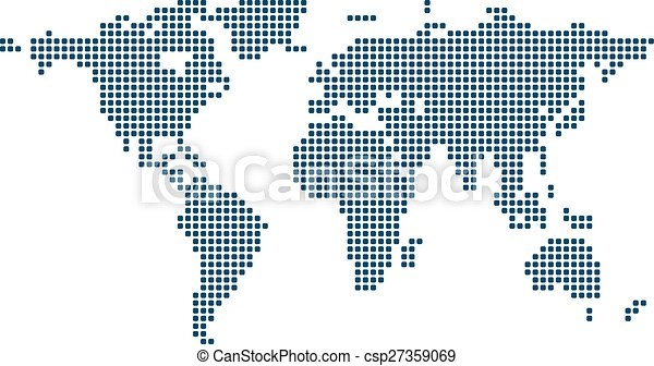 Stylized image of world map vector illustration clip art vector stylized image of world map csp27359069 gumiabroncs Gallery