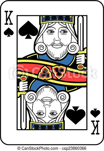 Stylized King of Spades - csp23860366