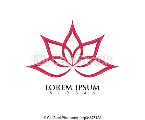 stylized lotus flower logo template vector lotus flowers design