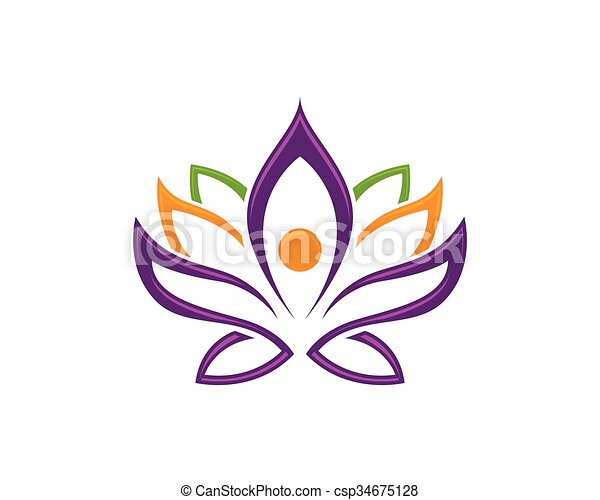 Stylized lotus flower logo template. Vector lotus flowers design ...