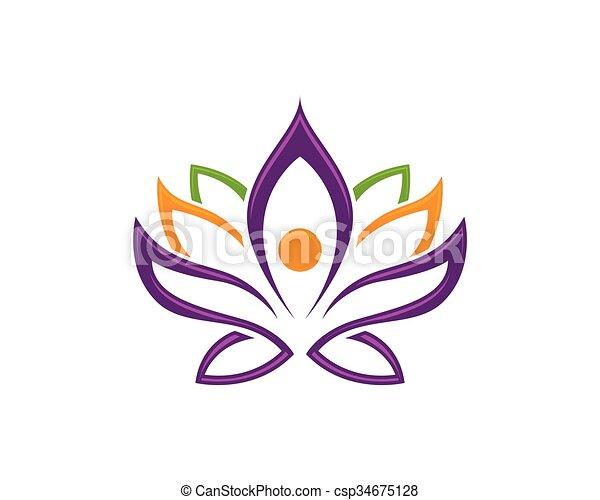 stylized lotus flower logo template vector lotus flowers design
