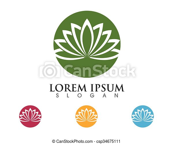 Vector clip art of stylized lotus flower logo template vector stylized lotus flower logo template csp34675111 pronofoot35fo Choice Image