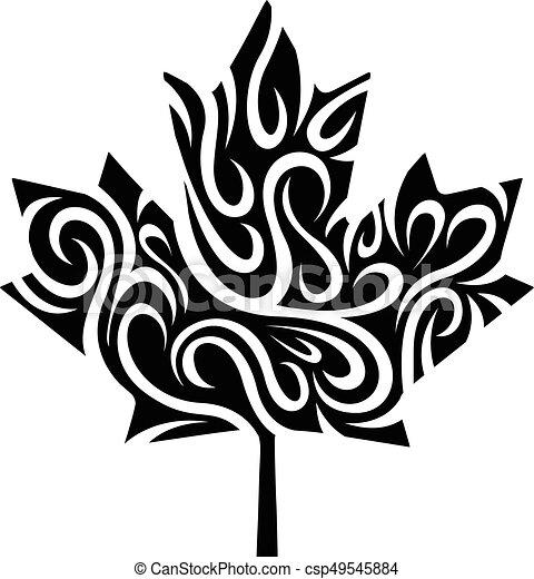 stylized maple leaf - csp49545884