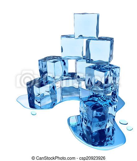 Stylized melting ice cubes - csp20923926