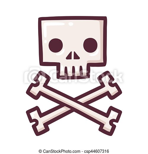 stylized skull with crossbones stylized square cartoon skull with rh canstockphoto com  pirate flag clip art free
