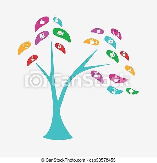 Stylized  tree - csp30578453