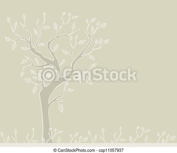 Stylized tree - csp11057937