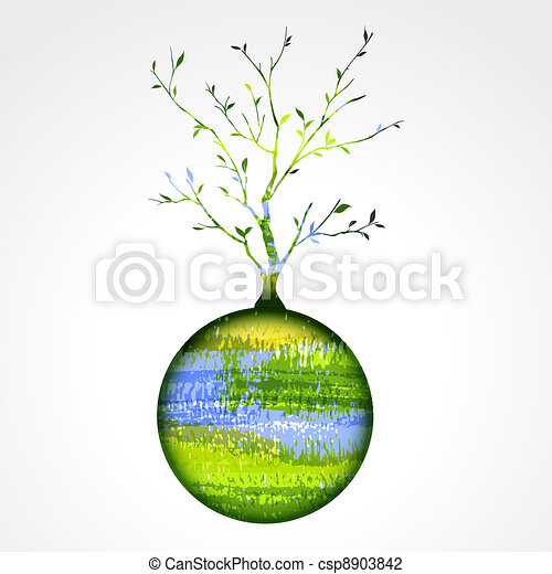 Stylized tree on the planet - csp8903842