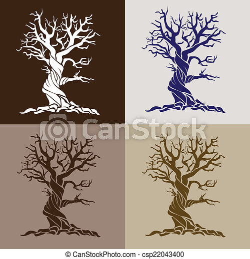 stylized tree - csp22043400