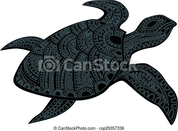 Stylized turtle.   - csp29357336
