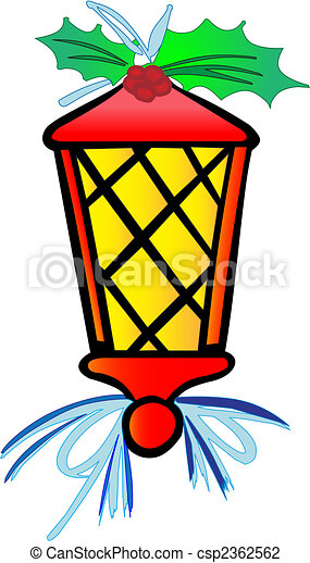 Stylized Vector Lantern Christmas In