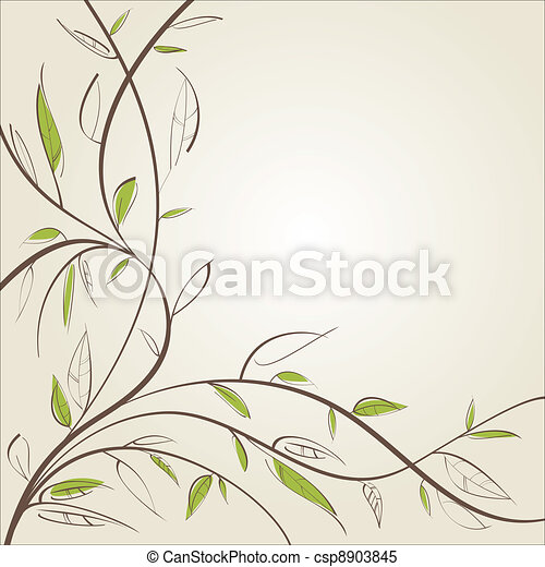 Stylized willow - csp8903845