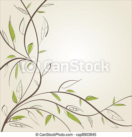 Stylized willow - csp8903845
