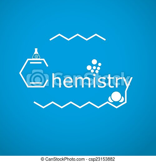 stylized word chemistry on gradient blue background 2d vector rh canstockphoto co uk Chemistry Word Clip Art Designs Word Design Clip Art