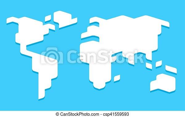 Stylized world map. Abstract stylized world map illustration. simple ...