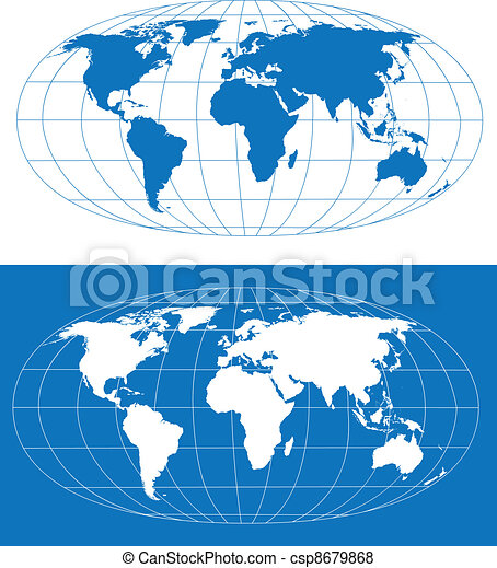 Stylized world map high detailed world map vector eps8 stylized world map csp8679868 gumiabroncs Image collections