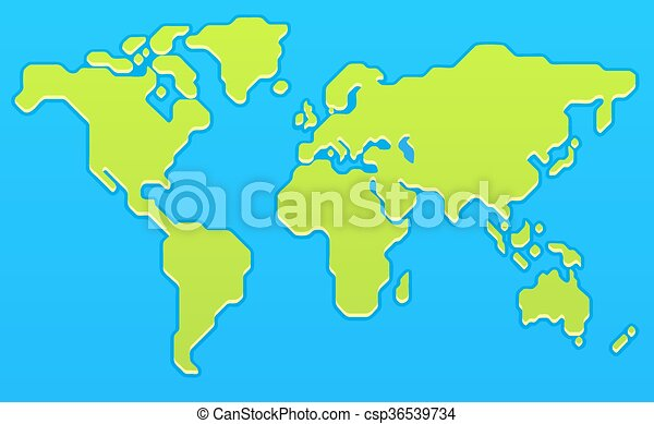 Stylized world map modern flat vector illustration gumiabroncs Image collections