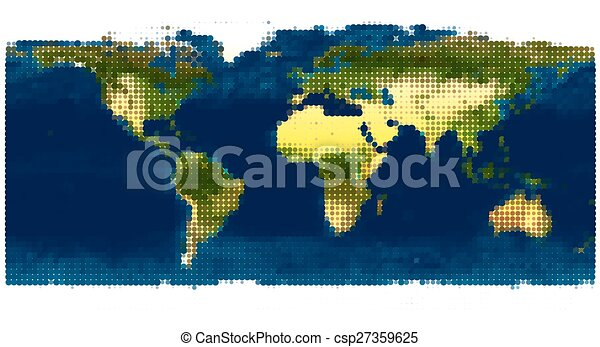 Stylized world map vector illustration based on the image stylized world map vector illustration gumiabroncs Image collections